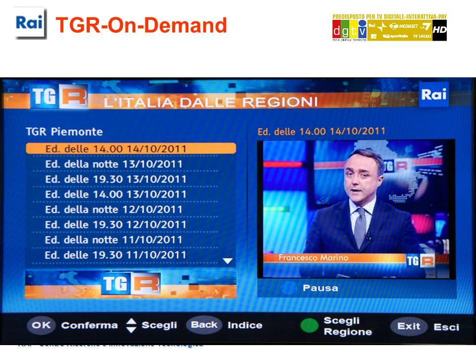 RAI - Centro Ricerche e Innovazione Tecnologica TGR-On-Demand