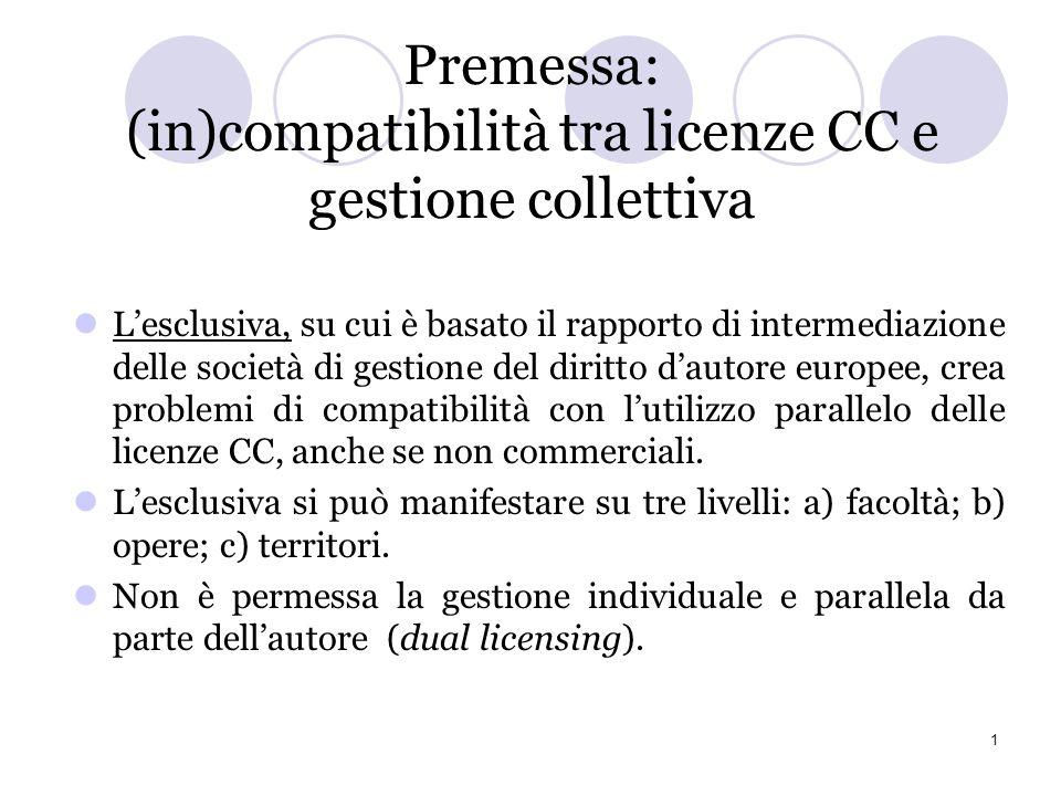 Creative Commons e gestione collettiva: il gruppo di lavoro CC-IT Deborah De Angelis (Questa relazione, presentata in data 27.11.2010 a Torino alla co