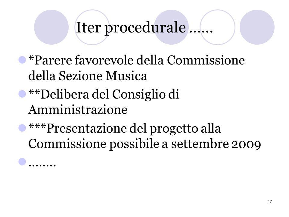 14 luglio 2009 **Ultima riunione del Gruppo ove viene condivisa lultima bozza del mandato ***Proposta di definizione di un elenco delle opere da dichi