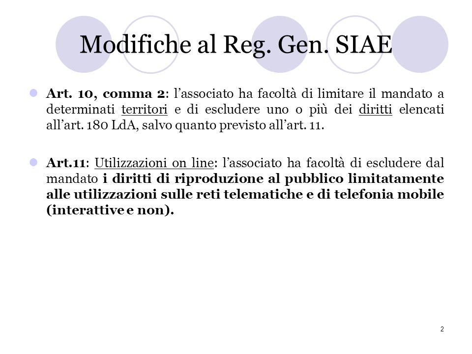 1 Premessa: (in)compatibilità tra licenze CC e gestione collettiva Lesclusiva, su cui è basato il rapporto di intermediazione delle società di gestion