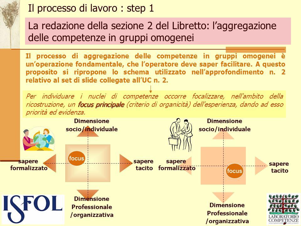 focus principale Per individuare i nuclei di competenze occorre focalizzare, nell'ambito della ricostruzione, un focus principale (criterio di organic