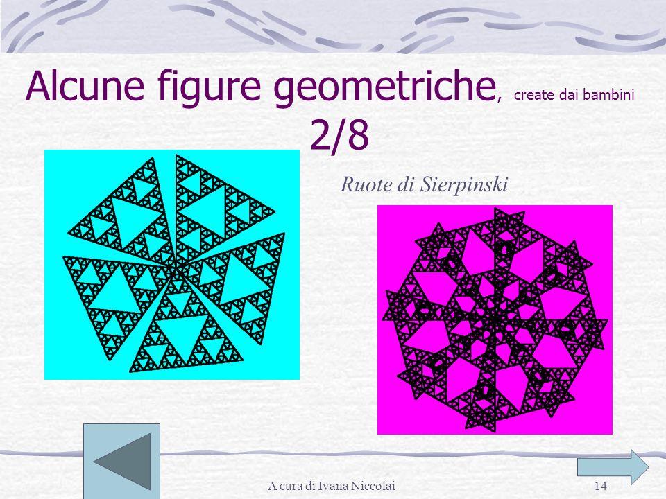 A cura di Ivana Niccolai14 Alcune figure geometriche, create dai bambini 2/8 Ruote di Sierpinski
