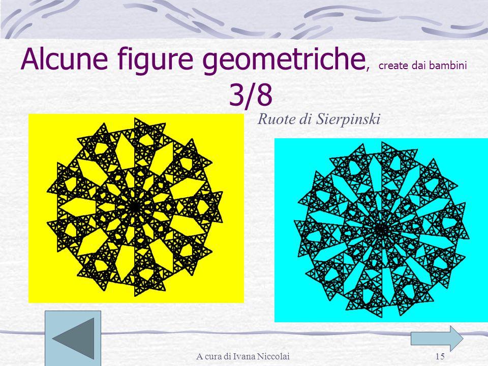 A cura di Ivana Niccolai15 Alcune figure geometriche, create dai bambini 3/8 Ruote di Sierpinski