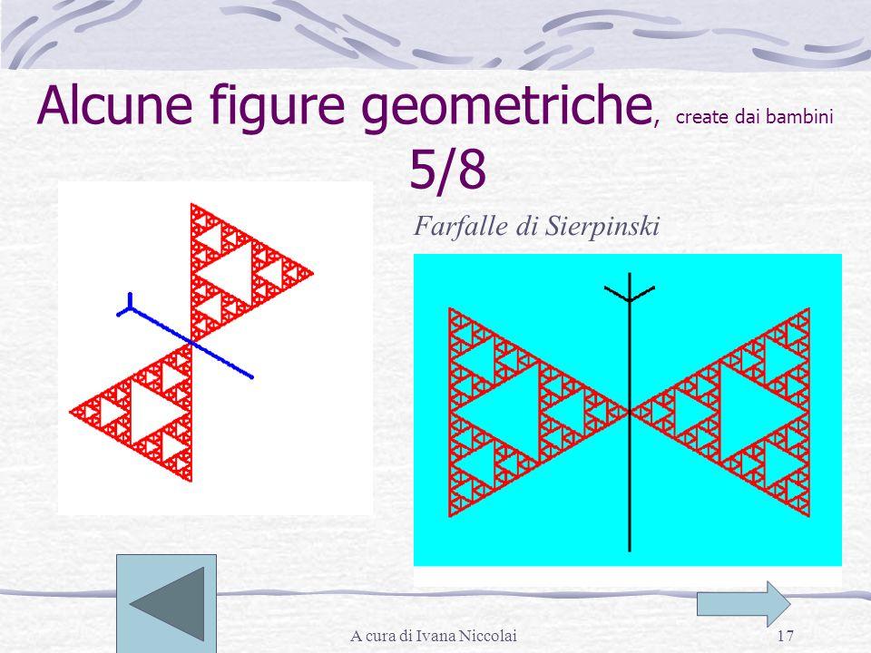 A cura di Ivana Niccolai17 Alcune figure geometriche, create dai bambini 5/8 Farfalle di Sierpinski