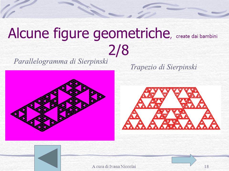 A cura di Ivana Niccolai18 Alcune figure geometriche, create dai bambini 2/8 Parallelogramma di Sierpinski Trapezio di Sierpinski