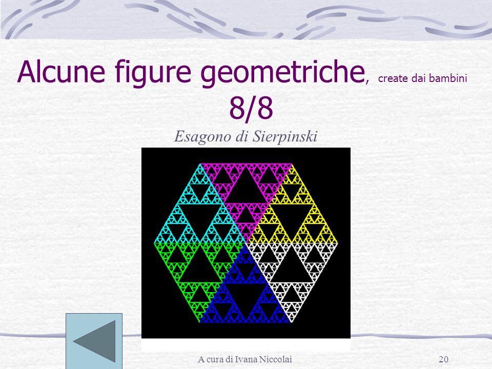 A cura di Ivana Niccolai20 Alcune figure geometriche, create dai bambini 8/8 Esagono di Sierpinski