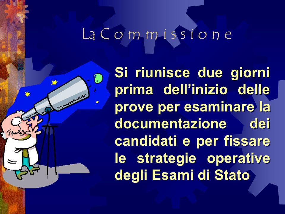 Il colloquio Il candidato deve esporre con chiarezza, completezza, senso critico, le sue conoscenze e le sue posizioni.