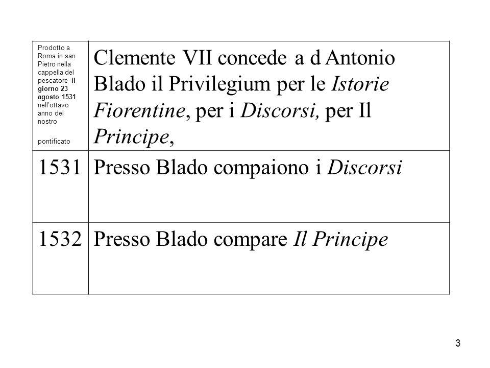 Prodotto a Roma in san Pietro nella cappella del pescatore il giorno 23 agosto 1531 nellottavo anno del nostro pontificato Clemente VII concede a d An