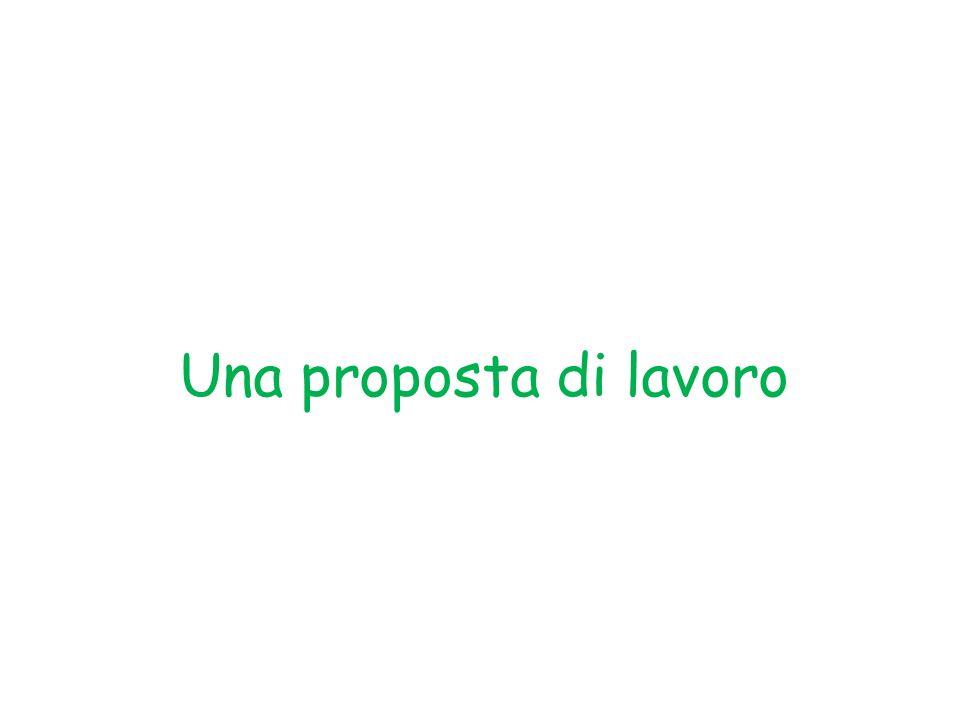 Una proposta di lavoro