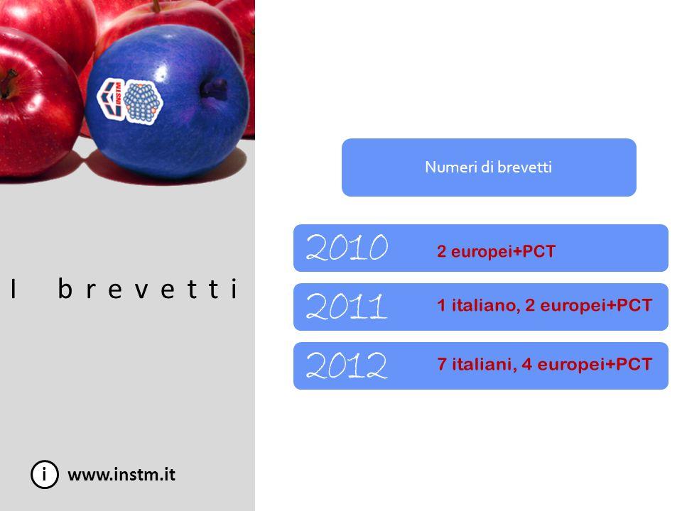 i www.instm.it I brevetti Numeri di brevetti