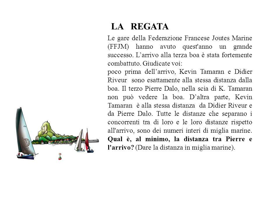 LA REGATA Le gare della Federazione Francese Joutes Marine (FFJM) hanno avuto quest'anno un grande successo. Larrivo alla terza boa è stata fortemente