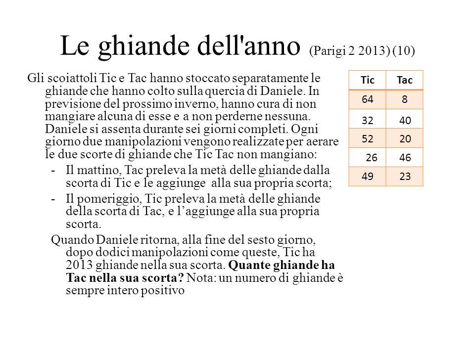 Le ghiande dell'anno (Parigi 2 2013) (10) Gli scoiattoli Tic e Tac hanno stoccato separatamente le ghiande che hanno colto sulla quercia di Daniele. I