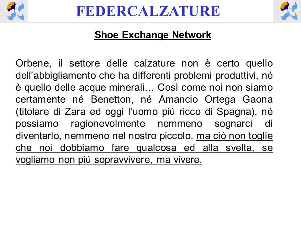 FEDERCALZATURE Shoe Exchange Network Orbene, il settore delle calzature non è certo quello dellabbigliamento che ha differenti problemi produttivi, né