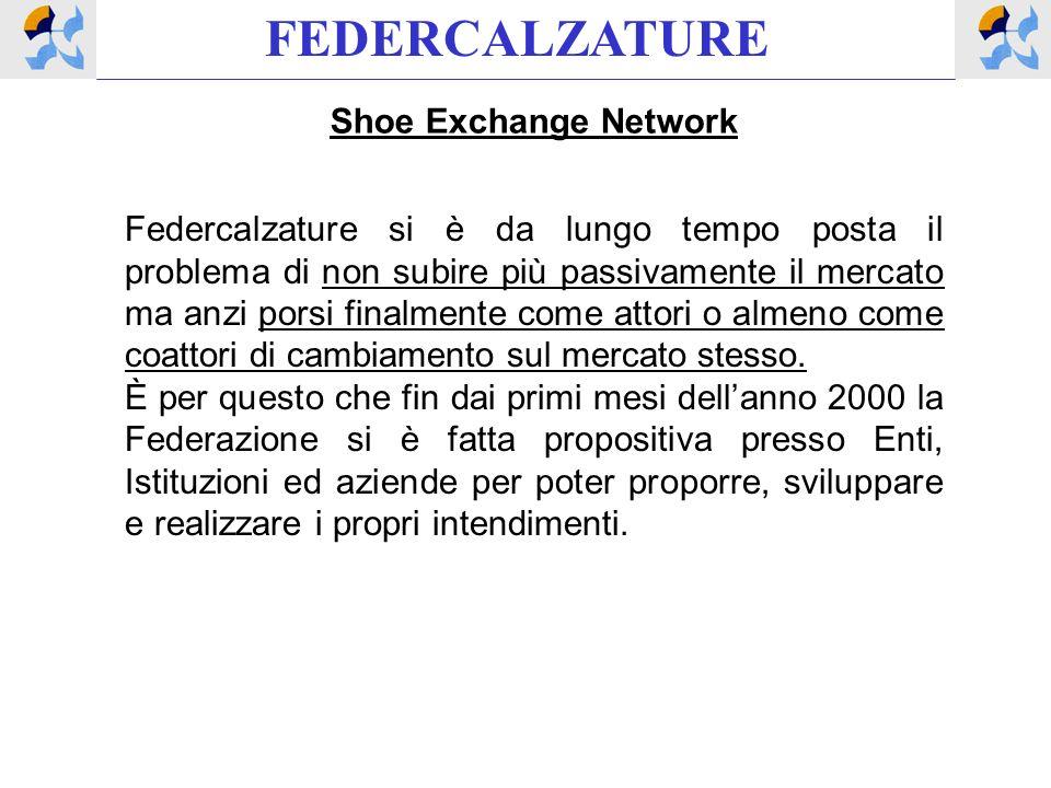FEDERCALZATURE Shoe Exchange Network Federcalzature si è da lungo tempo posta il problema di non subire più passivamente il mercato ma anzi porsi fina