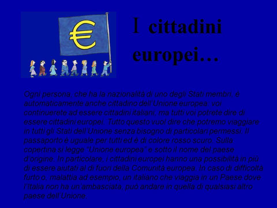 Ogni persona, che ha la nazionalità di uno degli Stati membri, è automaticamente anche cittadino dellUnione europea: voi continuerete ad essere cittad