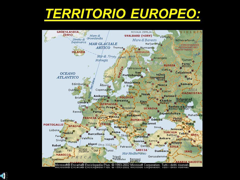 TERRITORIO EUROPEO: