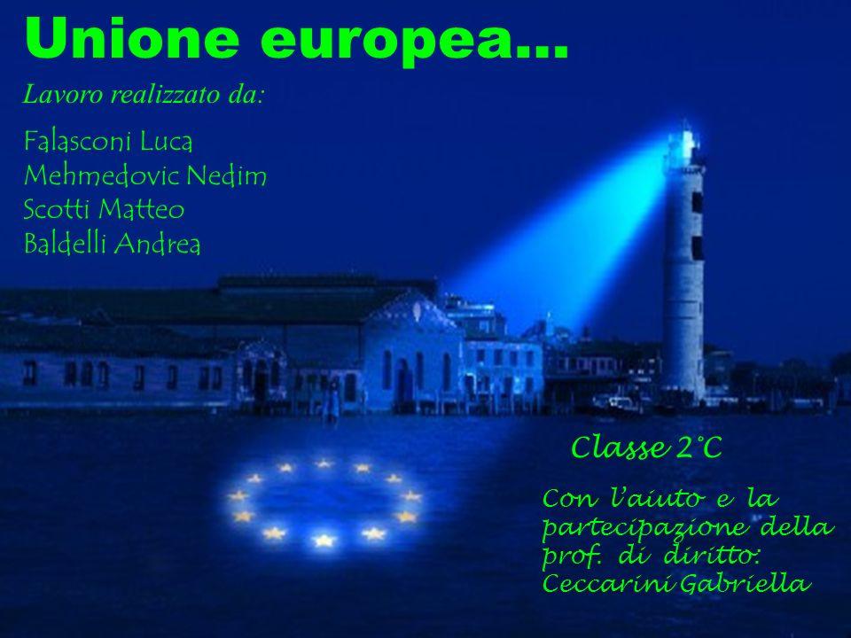 Unione europea… Lavoro realizzato da: Falasconi Luca Mehmedovic Nedim Scotti Matteo Baldelli Andrea Classe 2°C Con laiuto e la partecipazione della pr