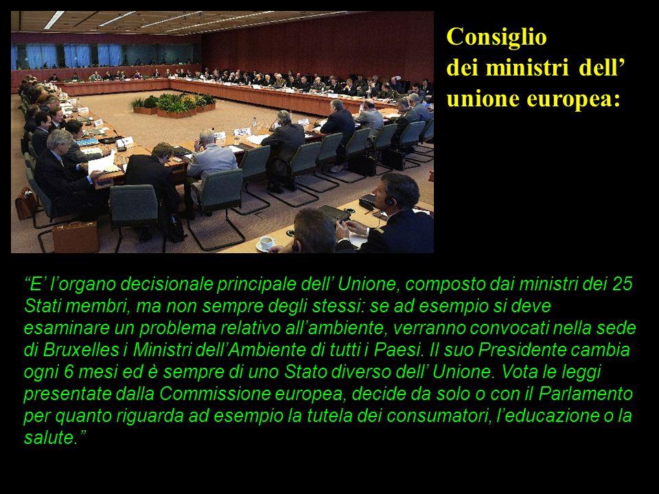 E lorgano decisionale principale dell Unione, composto dai ministri dei 25 Stati membri, ma non sempre degli stessi: se ad esempio si deve esaminare u