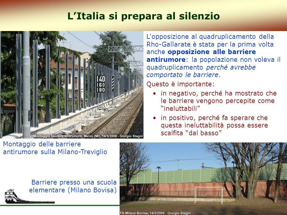 29 LItalia si prepara al silenzio Montaggio delle barriere antirumore sulla Milano-Treviglio L'opposizione al quadruplicamento della Rho-Gallarate è s