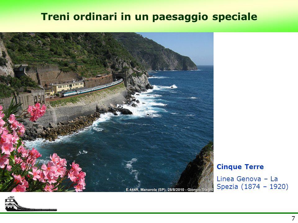 7 Treni ordinari in un paesaggio speciale Cinque Terre Linea Genova – La Spezia (1874 – 1920)