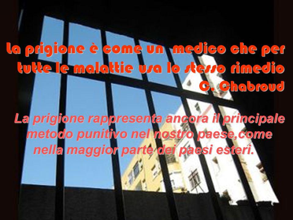 La prigione è come un medico che per tutte le malattie usa lo stesso rimedio C. Chabroud La prigione rappresenta ancora il principale La prigione rapp