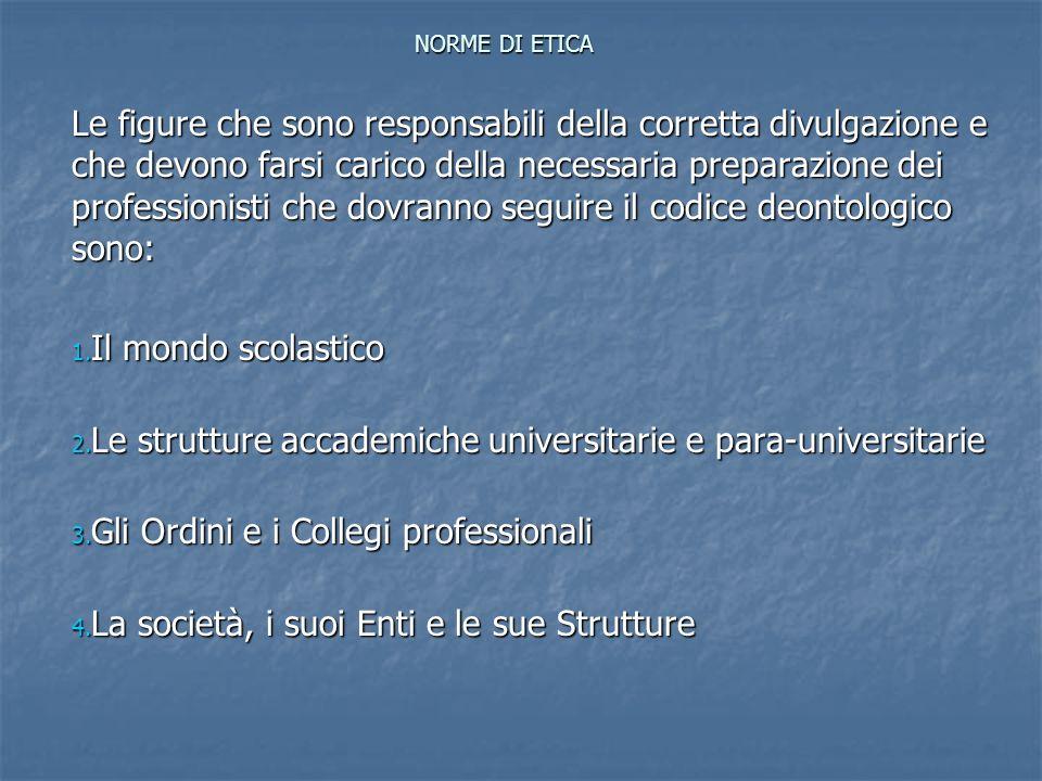 Codice Deontologico del C.N.I.Rapporti con la Collettività e lAmbiente: 1.