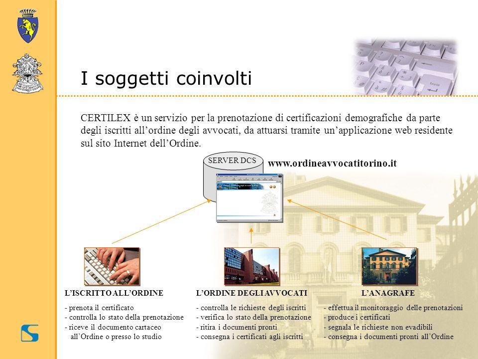 CERTILEX è un servizio per la prenotazione di certificazioni demografiche da parte degli iscritti allordine degli avvocati, da attuarsi tramite unappl