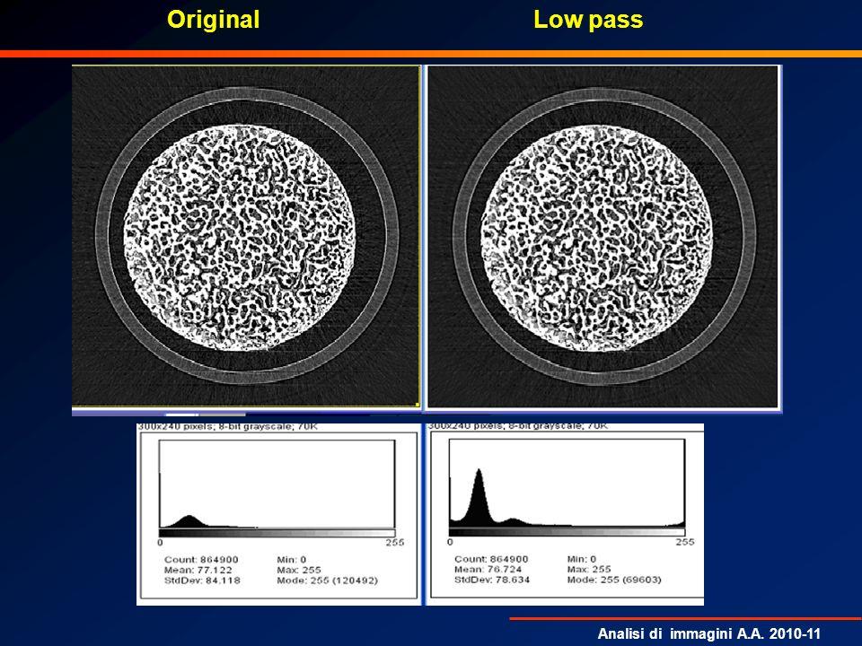 Analisi di immagini A.A. 2010-11 Low passOriginal