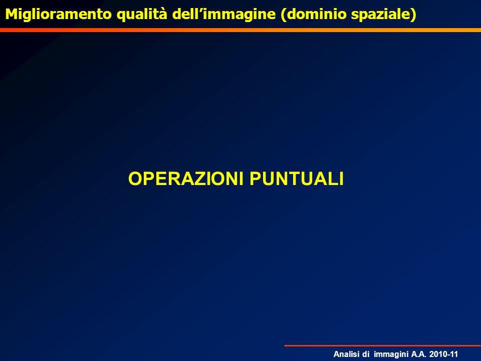 Analisi di immagini A.A. 2010-11 Gradiente di Prewitt: esempio derivazione verticaleoriginale