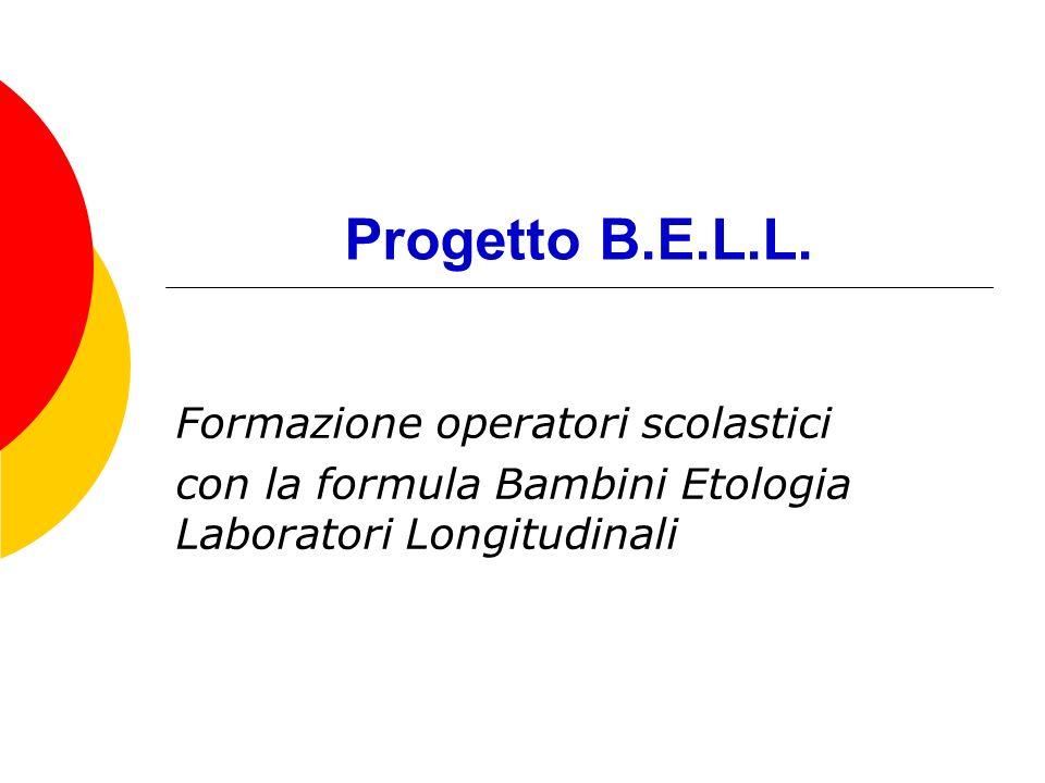 Progetto B.E.L.L. Formazione operatori scolastici con la formula Bambini Etologia Laboratori Longitudinali