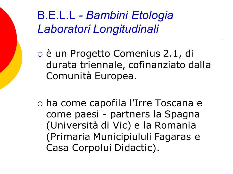 B.E.L.L - Bambini Etologia Laboratori Longitudinali è un Progetto Comenius 2.1, di durata triennale, cofinanziato dalla Comunità Europea. ha come capo