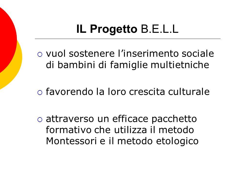 IL Progetto B.E.L.L vuol sostenere linserimento sociale di bambini di famiglie multietniche favorendo la loro crescita culturale attraverso un efficac