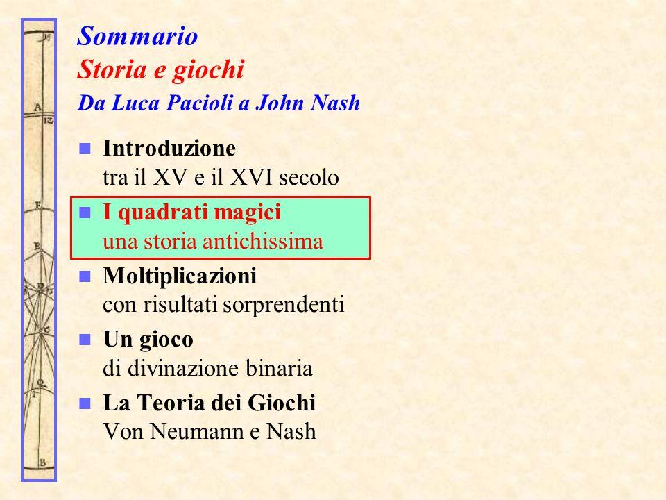 Torniamo a Pacioli: moltiplicazioni con risultati sorprendenti Perché Pacioli ha considerato proprio 111111.