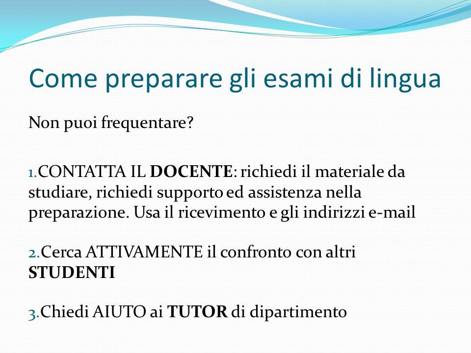 Prepara gli esami MATERIALE On-line MATERIALE DIDATTICO del docente di interesse.