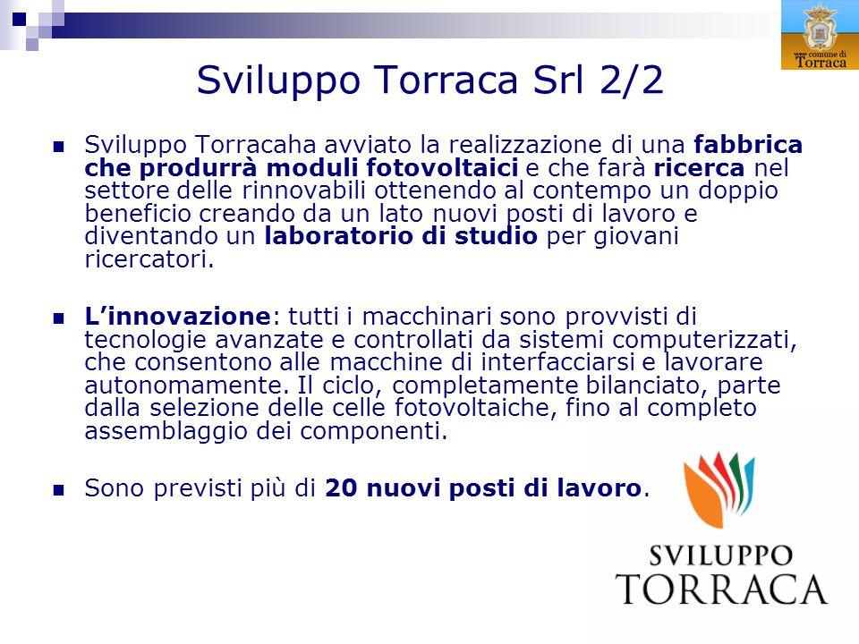 Sviluppo Torraca Srl 2/2 Sviluppo Torracaha avviato la realizzazione di una fabbrica che produrrà moduli fotovoltaici e che farà ricerca nel settore d
