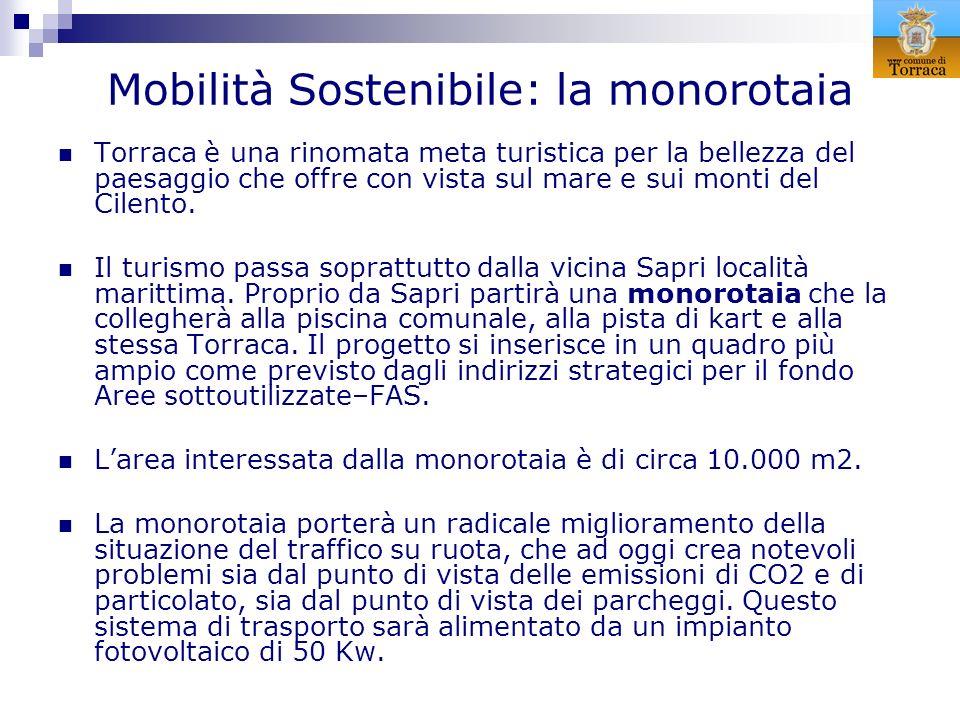 Mobilità Sostenibile: la monorotaia Torraca è una rinomata meta turistica per la bellezza del paesaggio che offre con vista sul mare e sui monti del C