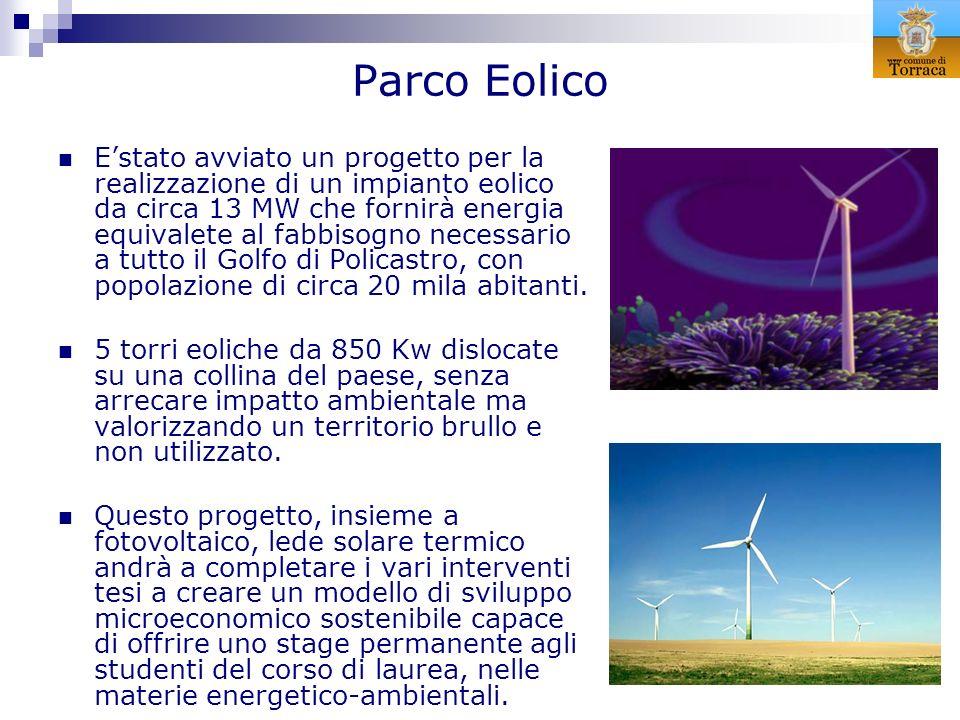 Parco Eolico Estato avviato un progetto per la realizzazione di un impianto eolico da circa 13 MW che fornirà energia equivalete al fabbisogno necessa