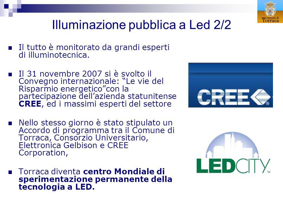 Illuminazione pubblica a Led 2/2 Il tutto è monitorato da grandi esperti di illuminotecnica. Il 31 novembre 2007 si è svolto il Convegno internazional