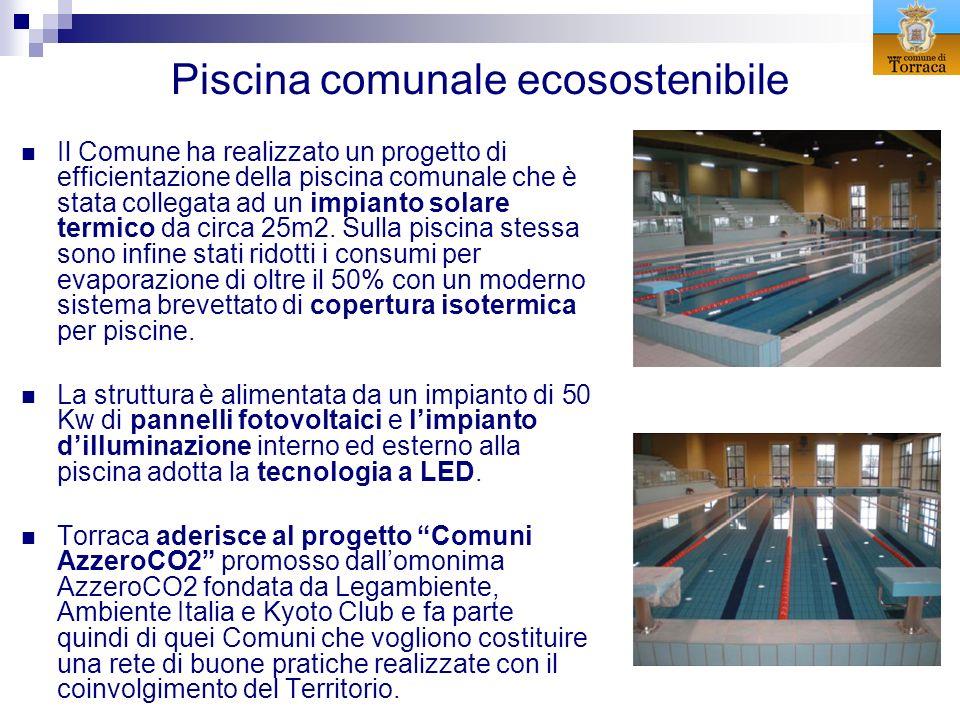 Piscina comunale ecosostenibile Il Comune ha realizzato un progetto di efficientazione della piscina comunale che è stata collegata ad un impianto sol