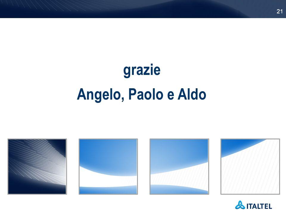 21 grazie Angelo, Paolo e Aldo
