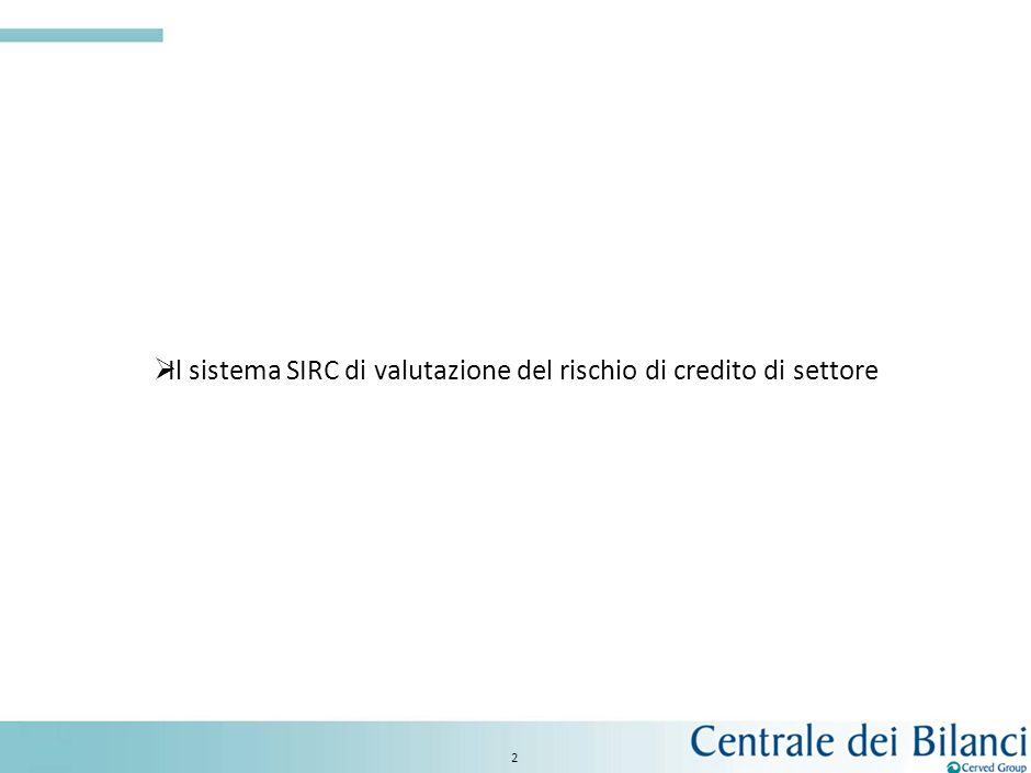 1 Limpatto della crisi sul rischio di default di settore Il sistema SIRC di valutazione del rischio di credito di settore I tassi di decadimento: le p