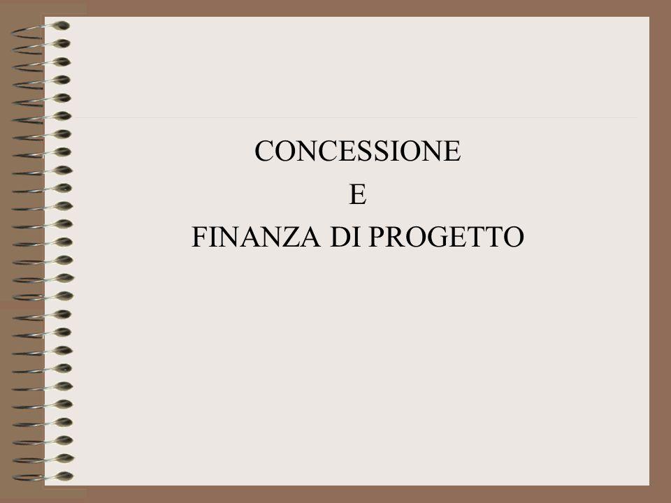 CONCESSIONE DI LAVORI PUBBLICI ART. 143 CodiceART. 153 Codice FINANZA DI PROGETTO