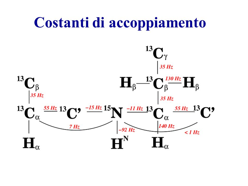 Costanti di accoppiamento The scheme of 1J scalar couplings