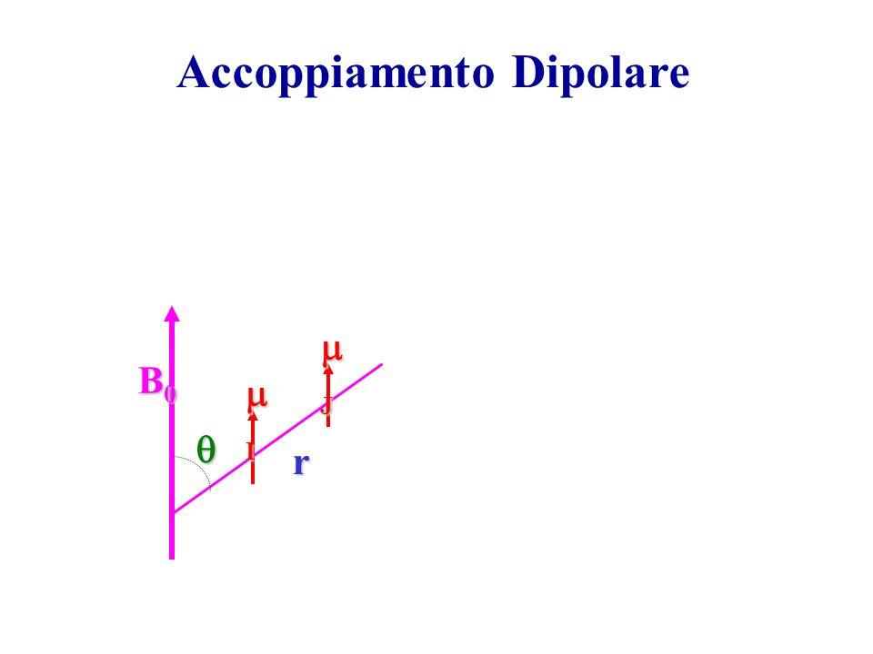 Accoppiamento Dipolare B0B0B0B0 I J r