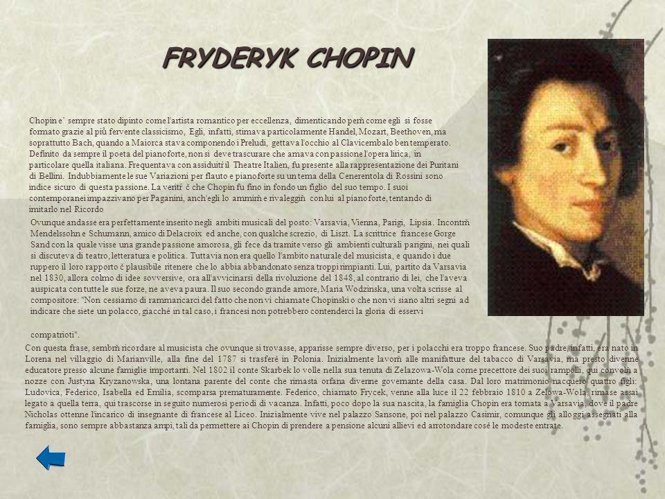 Chopin e sempre stato dipinto come l'artista romantico per eccellenza, dimenticando perň come egli si fosse formato grazie al piů fervente classicismo