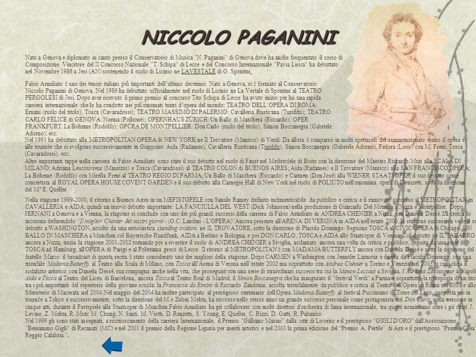 Nato a Genova e diplomato in canto presso il Conservatorio di Musica