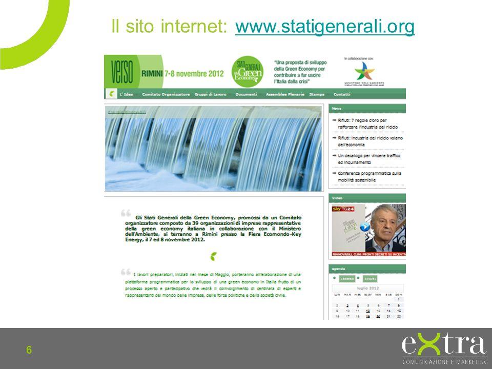 6 Il sito internet: www.statigenerali.orgwww.statigenerali.org