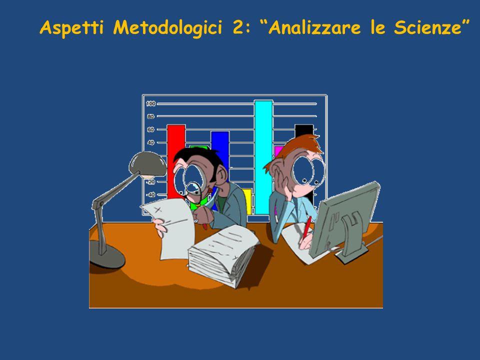 Aspetti Metodologici 2: Analizzare le Scienze