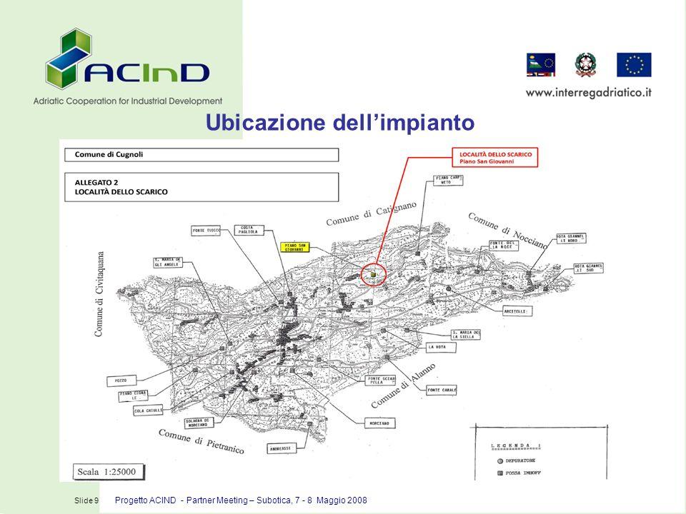 Slide 10 Progetto ACIND – Partner Meeting – Subotica, 7 – 8 Maggio 2008 Area vasca di fitodepurazione e fossa Imhoff