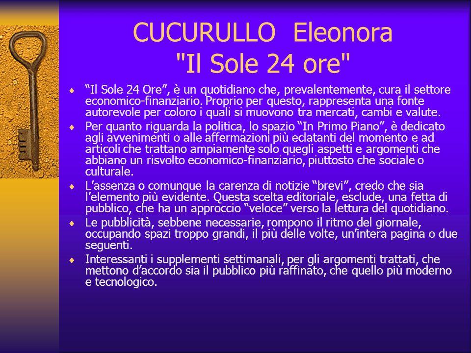 CUCURULLO Eleonora